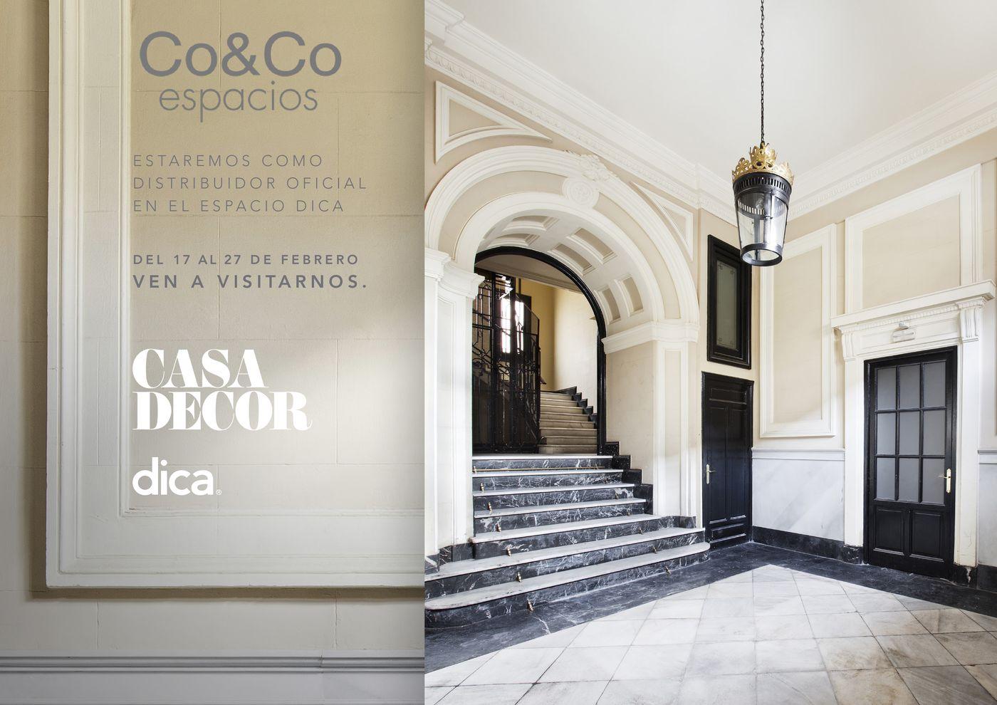 Co&Co Espacios estará presetente en Casa Decor 2018 dica madrid