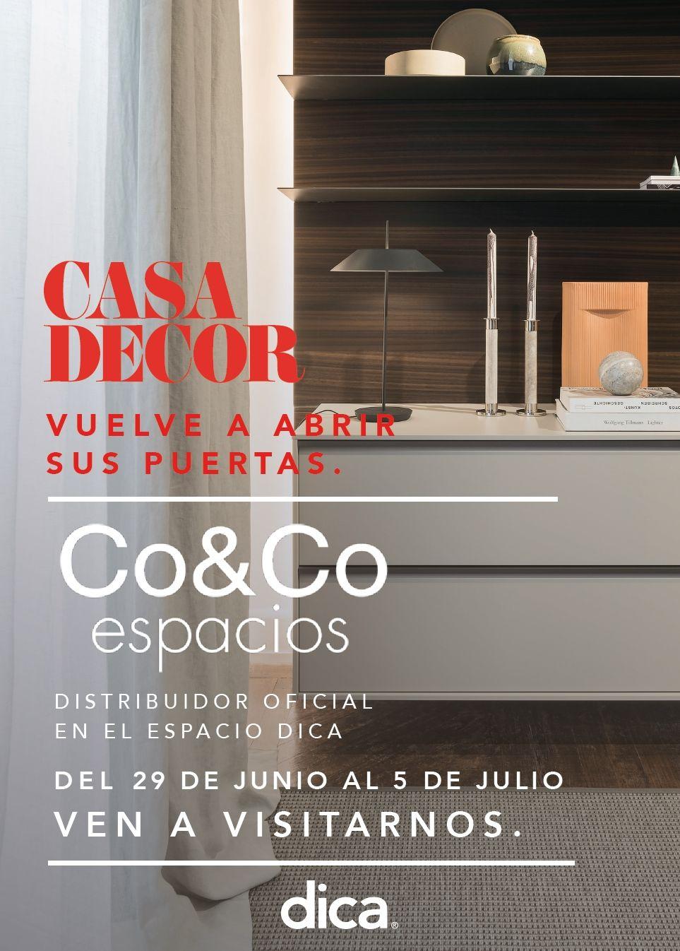 Co&Co Espacios estará presetente en Casa Decor del 29 de Junio al 5 de Julio dica madrid