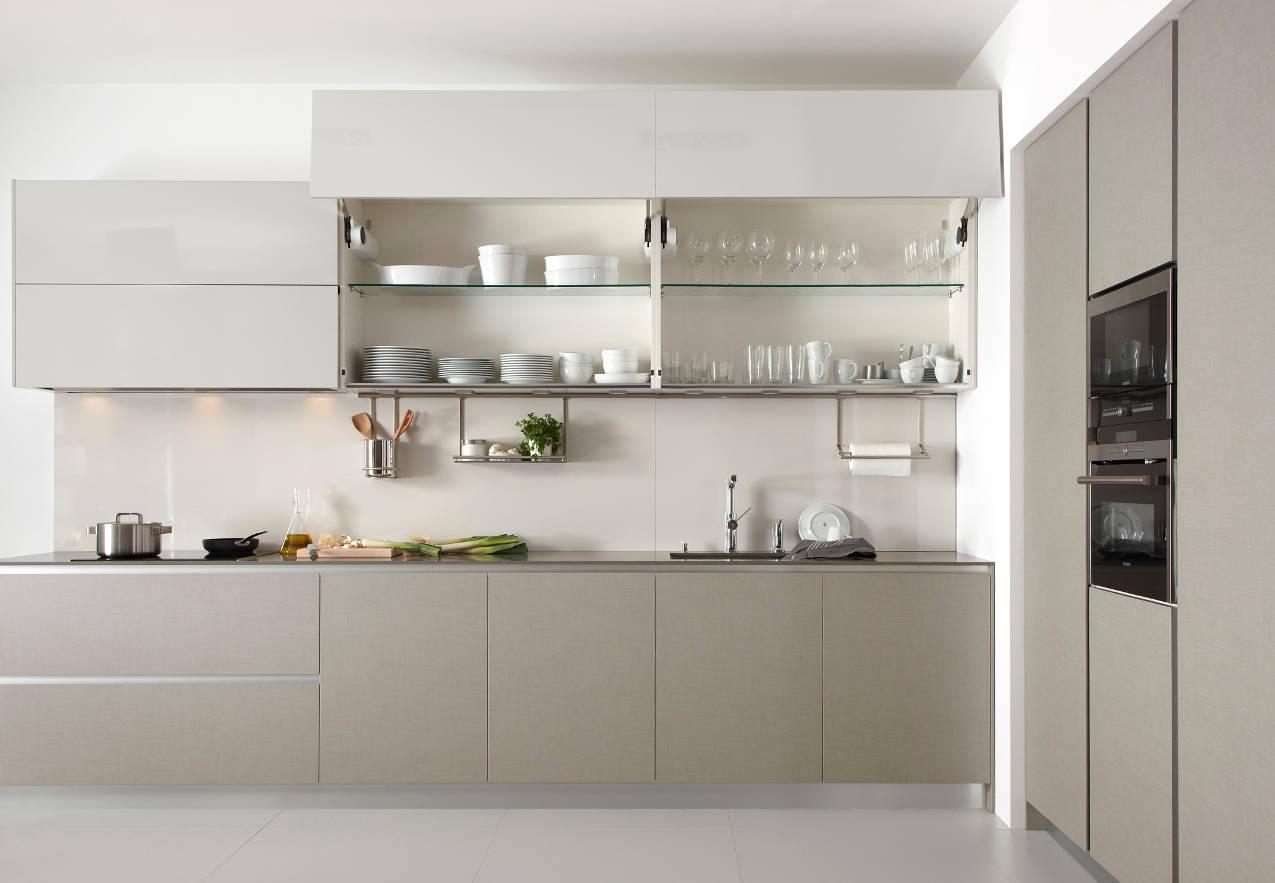 Cocina Dica Serie45 Lino Natural - Armarios Altos