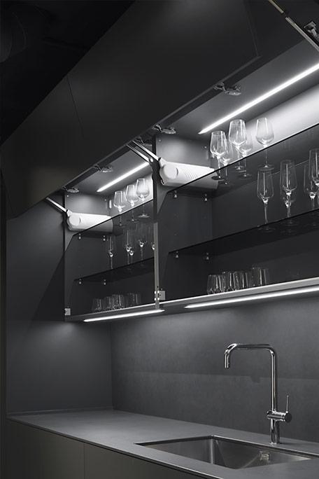 Cocina Dica Serie 90 Gris Noche - Iluminación