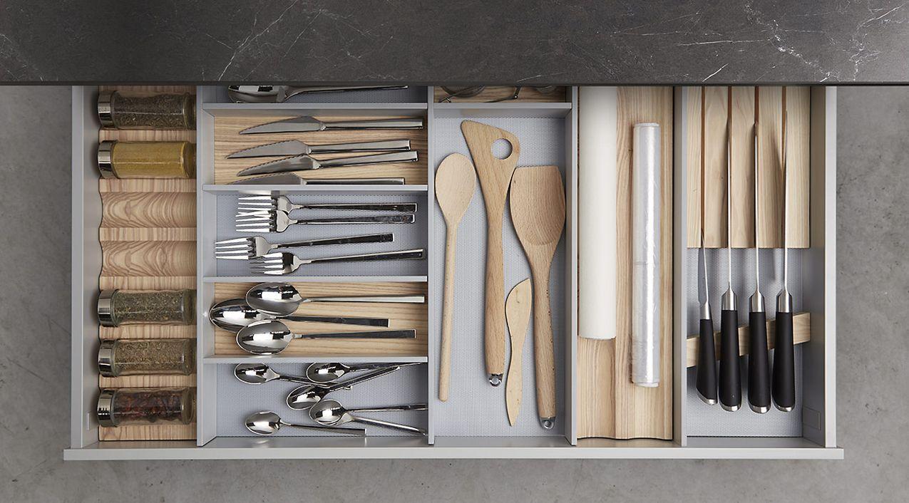 Cocina Dica Serie 90 - Distribución Interior Cajones
