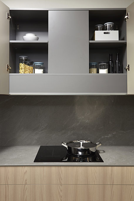 Cocina Dica Serie 90 Olmo Natural - Campana oculta