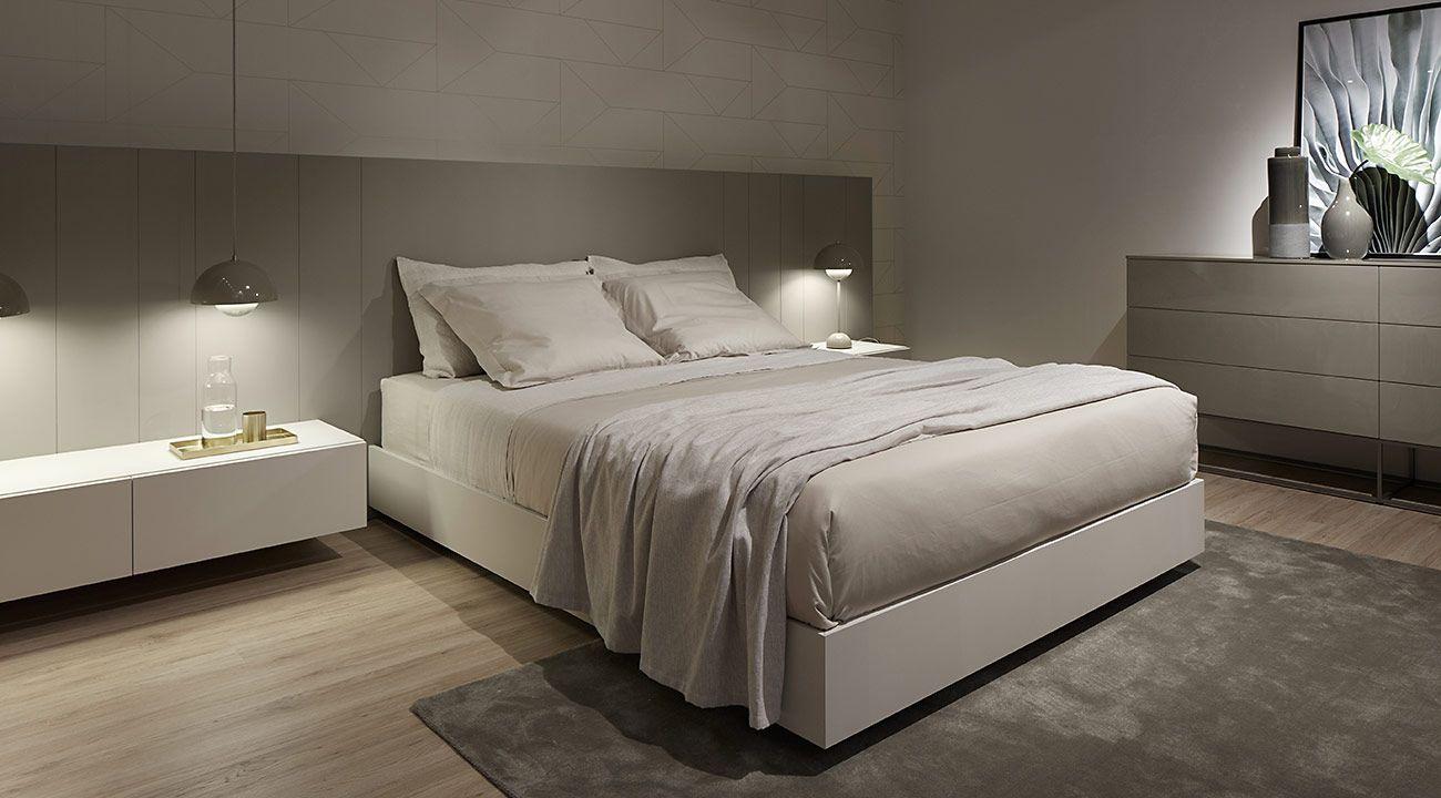 dormitorio dica gris calido puerta vitrina Dica