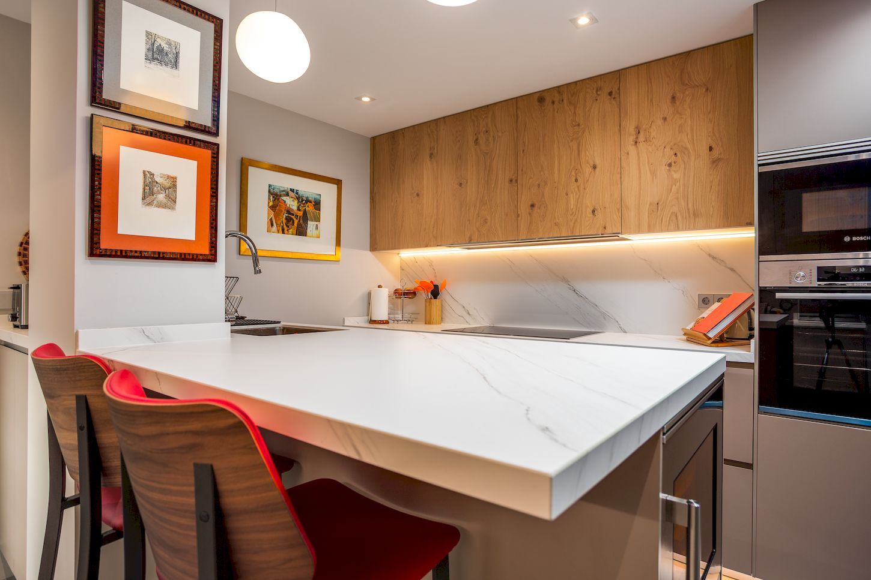 Reforma Integral de cocina y salón en la calle Alcalá de Madrid
